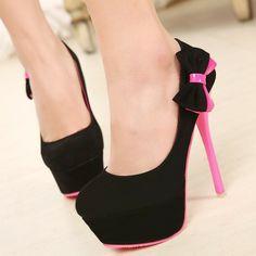 ENMAYER 2014 New Women Platform Pumps 14CM  High Heel Shoes Fashion Sweet Bow Shoes Ladies Dress Casual Shoes Pumps $64.13