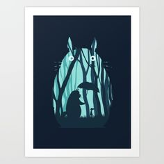 My Neighbor Totoro Art Print by Filiskun. Worldwide shipping available at Society6.com. Just one of millions of high quality products available.