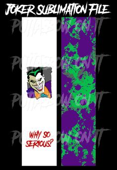 Joker Sublimation Cheer Bow Strips Download