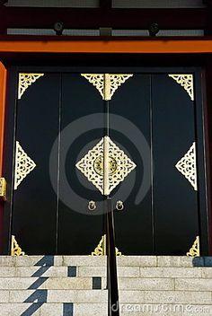 Japanese temple door by Kuponjabah, via Dreamstime