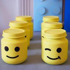 bocaux bonbons lego Lego Birthday Party, Birthday Parties, Pots, Legos, Party Time, Goodies, Jar, How To Make, Mon Cheri