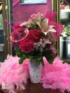 Fun pink center piece!