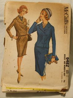 McCalls 6482 Vintage 1960s Suit with Pencil by EleanorMeriwether, $12.00