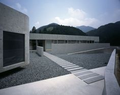 Symmetry at it's best. Horizontal House's entrance in Japan.