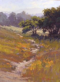 And the Day Begins, Woodside Glens by Kim Lordier Pastel ~ 16 x 12
