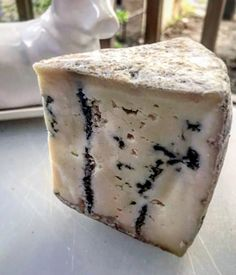 Here is a beautiful shot of lively run dairys Cayuga Blue Artisan Cheese, Best Cheese, Pudding, Desserts, Dreams, Food, Blue, Beautiful, Meal