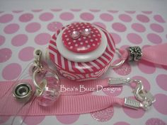 STRAWBERRY CUPCAKE  Retractable ID Badge Reel  by BeasBuzzDesigns, $20.00