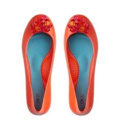 OKA b Crystal Guava Orange Ballet Flats - Size 6 by OKA b, http://www.amazon.com/dp/B007UREPEI/ref=cm_sw_r_pi_dp_5Yokrb0RPDPCX