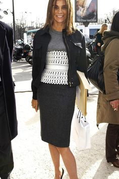 March 2, 2007 - The Cut #CR Where: At the Chanel fall 2007 runway show in Paris, France. What: Belt by Alaia.
