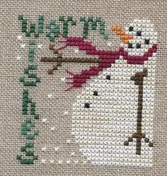 Garden Grumbles and Cross Stitch Fumbles: Warm Wishes