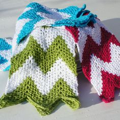 ♥ ♥ Chevron Dishcloths - Crochet Pattern ♥ ♥
