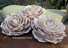 """Заколки-броши """"Кофейные розы"""". Фоамиран."""