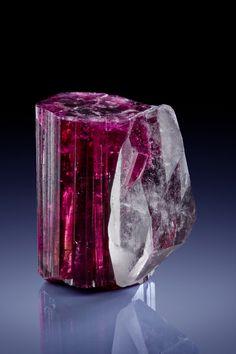 Elbaite with Quartz - Jonas Mine, Conselheiro Pena, Minas Gerais, Brazil Size: 6 x 5 cm