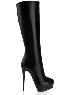 Giuseppe Zanotti Black Leather Knee High Boots Fall Winter 2013