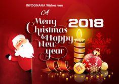 We Wish you a Merry Christmas & Prosperous New Year 2018.  #Christmas #Xmas #Newyear2018 #2018 #HappyNewYear #Infognana #IGsolutions