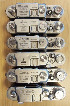 """Late model German and Japanese """"Barnack"""" Leica-type cameras"""