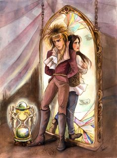 Jareth and Sarah. not sure what's going on here but I like it!
