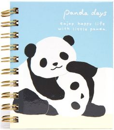 kawaii panda bear mini ring binder notebook by San-X
