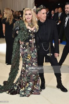 Madonna and Jeremy Scott attend the 'Rei Kawakubo/Comme des Garcons: Art Of The In-Between' Costume Institute Gala at Metropolitan Museum of Art on May 1, 2017 in New York City.  (Photo by John Shearer/Getty Images)