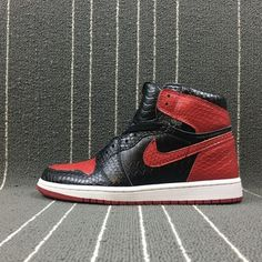 brand new 25f09 7f6ad Air Jordan 1 Bred Python Custom by JBF, the Python custom specialist is  back on the scene with yet another sure fire one of a kind gem.