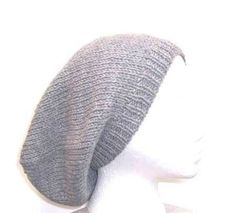 Wool slouch hat gray wool oversized beret large   by CaboDesigns, $28.00
