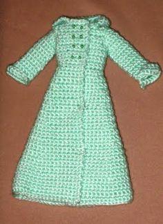 Chaqueta a ganchillo para Barbie, patrón gratis