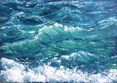 Oil painting sea waves, sea – shop online on livemaster with Canvas Painting Landscape, Oil Painting Abstract, Oil Paintings, Watercolor Artists, Indian Paintings, Painting Art, Watercolor Painting, Watercolor Illustration, Sea Art
