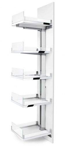 Space Tower Pantry Solution.  Easy to use & offers plentiful storage space! On display at Springvale & Essendon Showrooms
