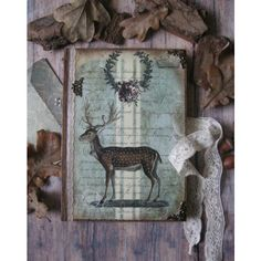 Woodland magic diary, journal, notebook, vintage style diary, vintage... ($34) ❤ liked on Polyvore featuring home, home decor, stationery and journal