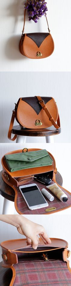 Handmade Women Vegetable Tanned Leather Bag Messenger Bag Evening Bag Fashion Small Gift