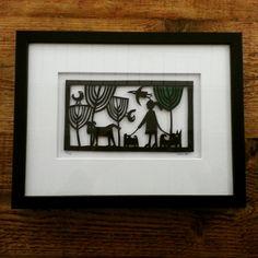 Framed Paper Cut by Caroline Rees