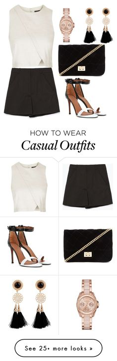 """casual"" by diianasilva on Polyvore featuring Zara, Topshop, Givenchy, Forever 21 and MICHAEL Michael Kors"