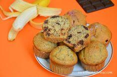 Muffinki z bananami i czekoladą Cupcakes, Breakfast, Food, Morning Coffee, Cupcake Cakes, Essen, Meals, Yemek, Cup Cakes