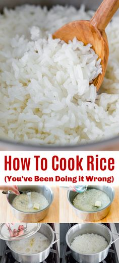 Easy Home Decor This is the best way to cook white rice. Learn how to cook rice like the pros!Easy Home Decor This is the best way to cook white rice. Learn how to cook rice like the pros! White Rice Recipes, Rice Recipes For Dinner, Side Dish Recipes, Tasty White Rice Recipe, Chinese White Rice Recipe, Healthy White Rice, Perfect Rice Recipe, Cooked Rice Recipes, Easy Rice Recipes