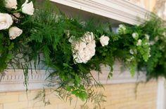 Inspired by Downton Abbey: an Elegant Countryside Wedding » Martha Swann Photography - love the garland!