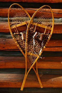 Vintage Lund Wood Snowshoes - wonderfully preserved set of vintage wood snowshoes made in Hastings, MN