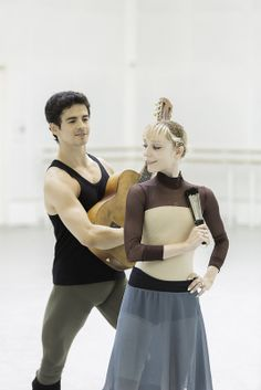 Sarah Lamb and Federico Bonelli in rehearsals for Don Quixote © ROH / Johan Persson 2013.... love this leotard!