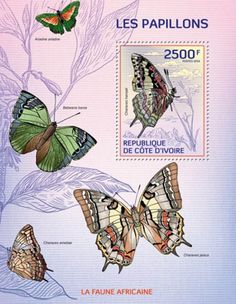 Ivory Coast 2014 Butterflies of Africa MNH Stamp S/S 9A-242
