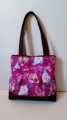 Disney Frozen Tote Bag / Purple by yumage on Etsy