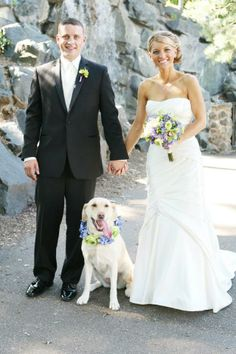 This Black Bear Crossings' bride and groom had their dog in their #wedding, how cute! #ComoPark