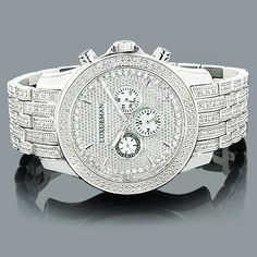Iced Out Mens Diamond Watch by LUXURMAN 1 Carat