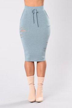Casual Lover Skirt - Cyan