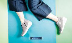 """Voglia di leggerezza? Oggi """"take it easy"""" con le #sneakers #Stonefly, super eleganti nella nuance grigio perla... e super confortevoli grazie alla zeppa a contrasto!"""