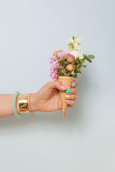 fleurs + cornet de glace - make my lemonade