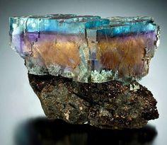 Fluorite - Denton Mine, Cave-in-Rock, Hardin County, Illinois, USA