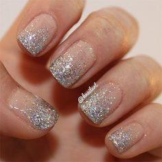 Smashing Glitter Wedding Nail Art Designs & Ideas 2014 | Fabulous ... #GlitterNails