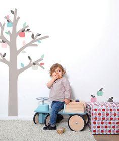 DECOILUZION - Pegatinas pared infantil El Manzano