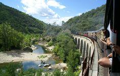 Voyagez dans le temps avec le Train à Vapeur des Cévennes Saint Jean, Train France, Tunnels, Social Media, River, Bridges, City, Outdoor, Outdoors