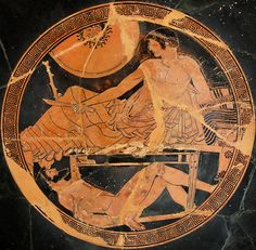 The Greek vase painter known as Macron Painter lived in the Ceramics Quarter, Athens, in the 5th century BC. He left beautiful paintings abo...