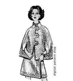 Knitting Pattern Cape & Skirt Vintage Womens by DigitalPatternShop